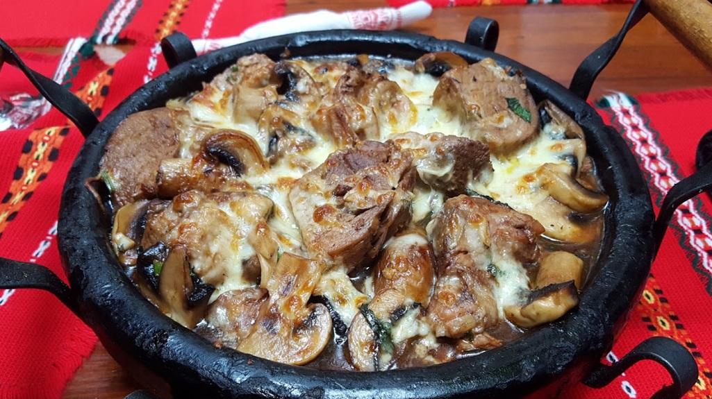 Varkensvlees met champignons