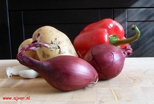 Hongaarse goulash van aardappelen