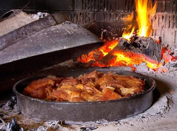 Lamsvlees onder de as