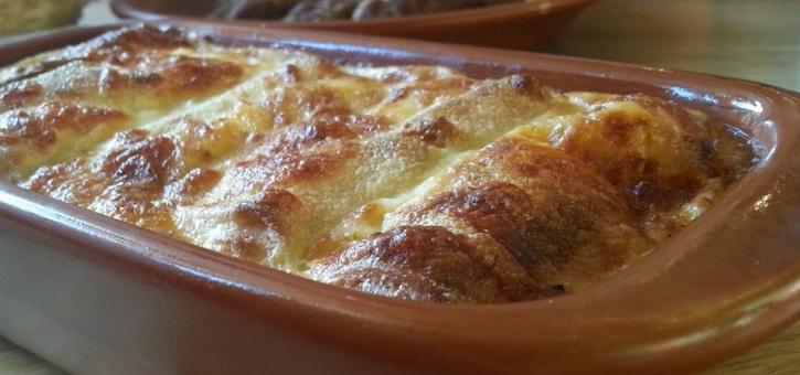 Gevulde pannenkoekjes uit de oven