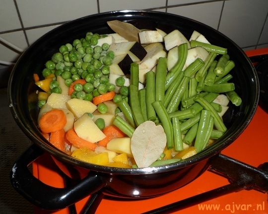 Vegetarische groenten stoofpot