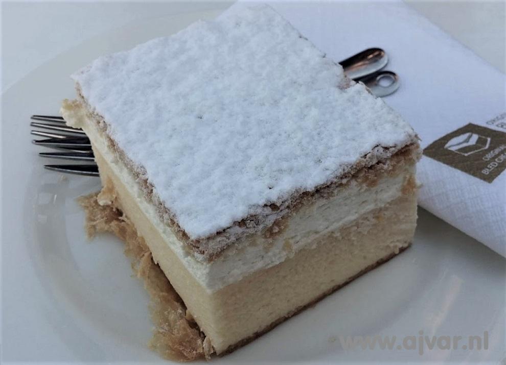 Crèmeschnitte uit Bled