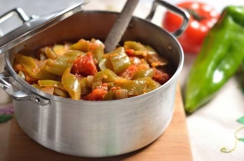 Gestoofde paprika - appel - tomaat