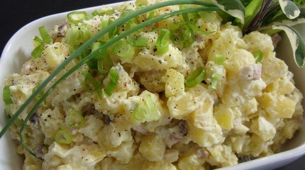 aardappelsalade met appels