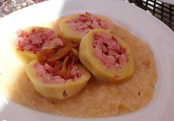 Aardappelknoedels met spek