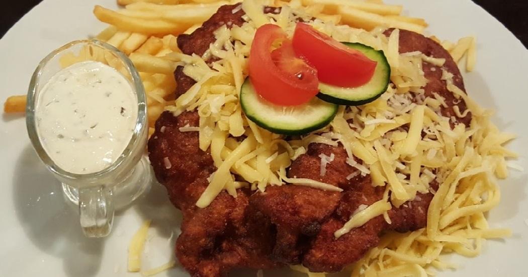 Schnitzel in aardappelbeslag